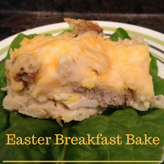 Easter Breakfast Bake recipe. An easy and delicious breakfast for a crowd! traditionalhomemaker.com