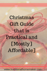 On the hunt for that perfect Christmas gift? Here are a few ideas from a practical and frugal gal. This gift guide is based off of what I own and what I have on my wish list yet!