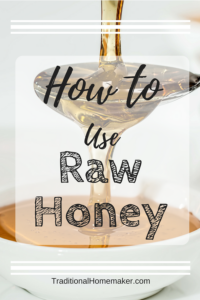 How to Use Raw Honey: Honey pouring onto a spoon into a bowl.