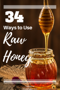 How to Use Raw Honey: Honey dipper coming out of a honey jar.