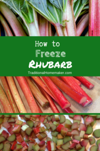 How to Freeze Rhubarb