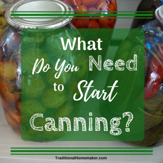 Canning food is a wonderful skill for any homemaker to have. Before you begin though let's go over a few supplies you need to start canning.