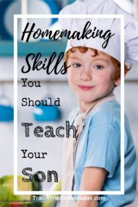 Is your son capable of running his own household (or dorm room)? There are some essential homemaking skills your son should know before leaving home.