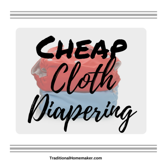My mother-in-law was shocked when I said I'd like to cloth diaper my baby. I was able to help her see how easy and cheap cloth diapering can be.