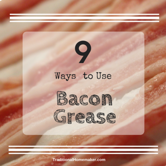 Bacon grease is a wonderful way to reduce wast and add wonderful flavor to any meal! Let me share with you 9 ways to use bacon grease.