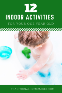 At 11 months, my baby loves to get into e.v.e.r.y.t.h.i.n.g. Use this list of one year old indoor activities to keep your toddler entertained!