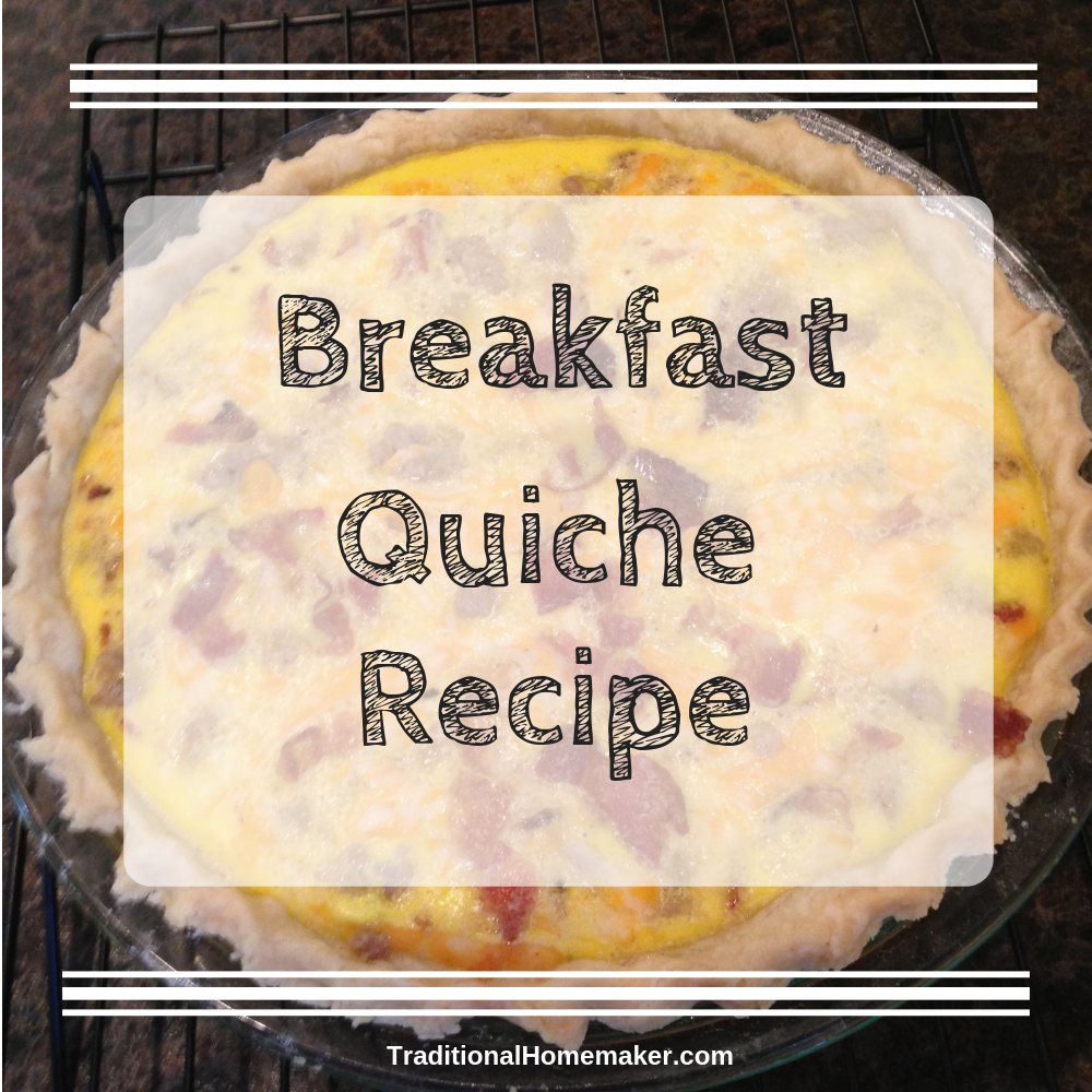 This breakfast quiche recipe is an easy, delicious way to put a filling meal on the table first thing in the morning. It's delicious made ahead of time!