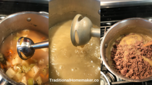 Easy hamburger soup is a delicious, quick, go-to recipe. It's healthy and requires minimal ingredients and you don't have to let it simmer all day.