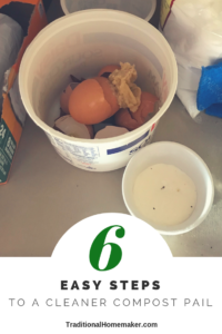 That space under the kitchen sink: that's where I keep my compost pail. Learn how to have a cleaner kitchen compost pail that won't gross you out!