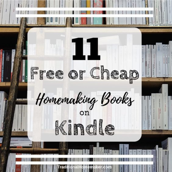 Did you know Kindle has free books? Look through some of these free and cheap homemaking books on Kindle for inspiration and recipes.