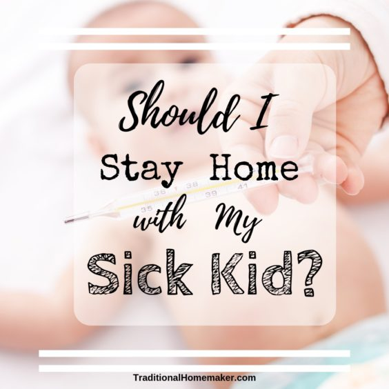 "With relief I say that I no longer have to ask myself, ""Should I stay home with my sick kid?"" I know the answer the minute he gets sick."