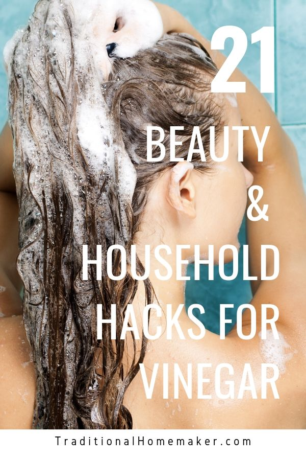 The one thing to add to your shopping list? Vinegar. With all the genius household and beauty uses for vinegar, you don't ever want to be caught without it!