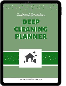 Deep Cleaning Planner: Undated, customizable, day by day