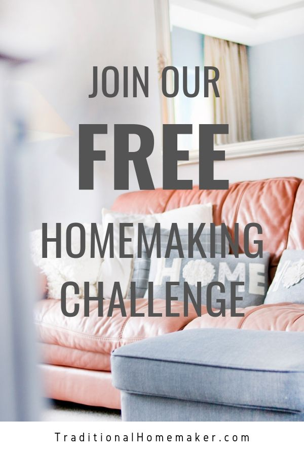 Join our free Healthier Homemaking Challenge to help you make small changes for a big impact.
