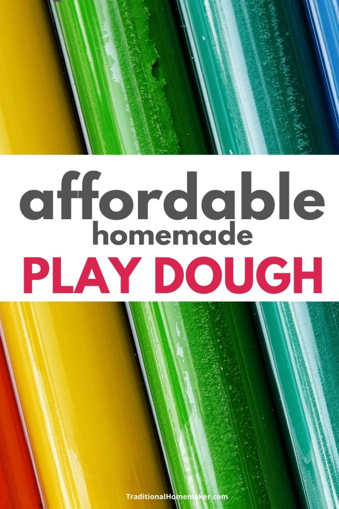 Make some homemade play dough to keep your children entertained on a budget!
