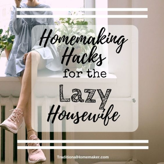 I can be so lazy. Not always, but enough to make me develop some lazy routines.Keep reading to discover some of my homemaking hacks for the lazy housewife.