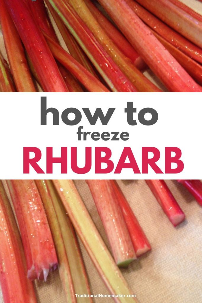 If you don't have a patch of rhubarb yourself, you know six people who do. That's why it's an essential skill to know how to freeze rhubarb.