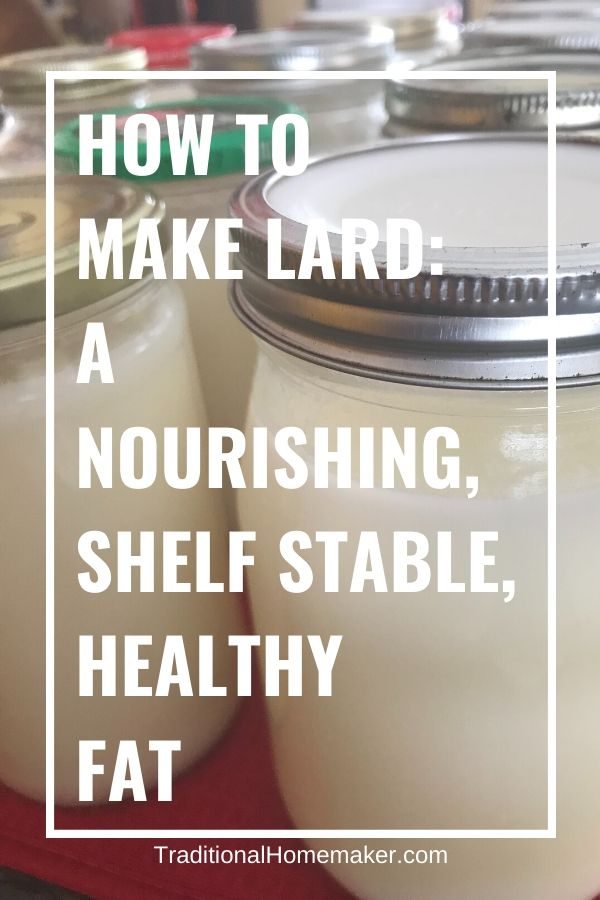 How to Make Lard. Including this real food, nourishing, healthy fat called lard in your everyday frying and baking recipes will change your life and health for the better!