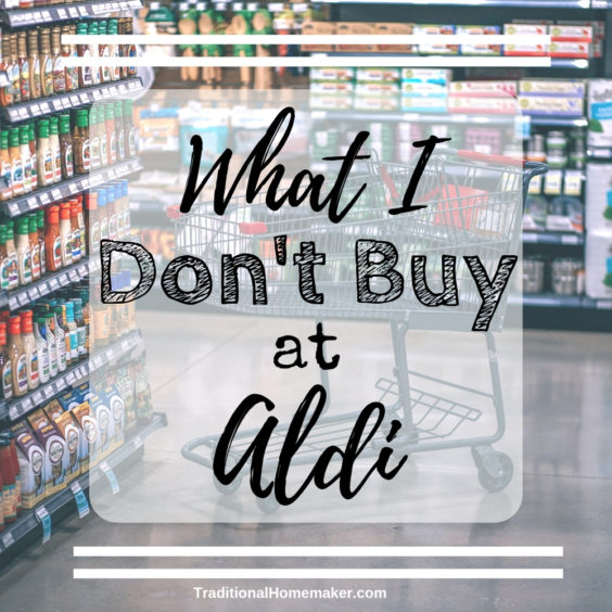 What I Don't Buy at Aldi